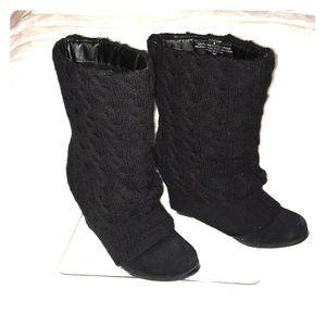 STEVE MADDEN Aspenn Sweater Wedge Boots